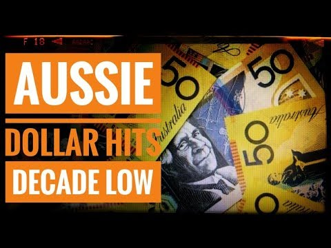 Aussie Dollar Hits Decade Low