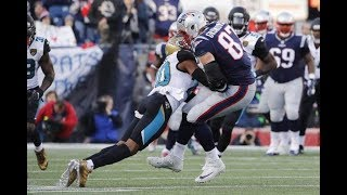 Rob Gronkowski Concussed in AFC Championship Game HD