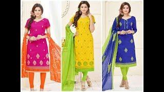 Mangodoli Catalog Cotton Jequard wth heavy embroidery work Churidar Designs with price