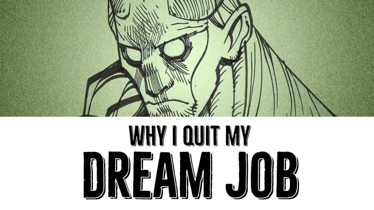 making my dream job my first