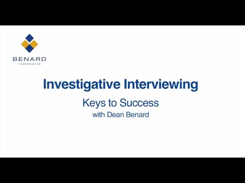 Investigative Interviewing - Keys to Success - DVD Preview