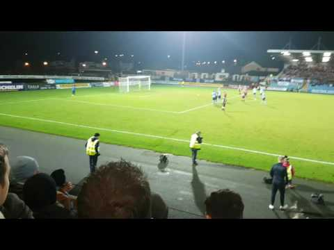 Ballymena utd fans going nuts beating Coleraine