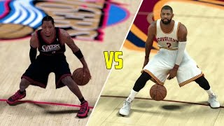 CAN KYRIE IRVING BEAT ALLEN IVERSON IN A 1V1? NBA 2K17 GAMEPLAY!