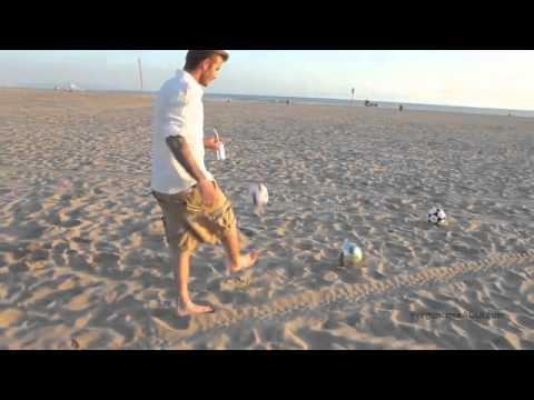 David Beckham on the beach