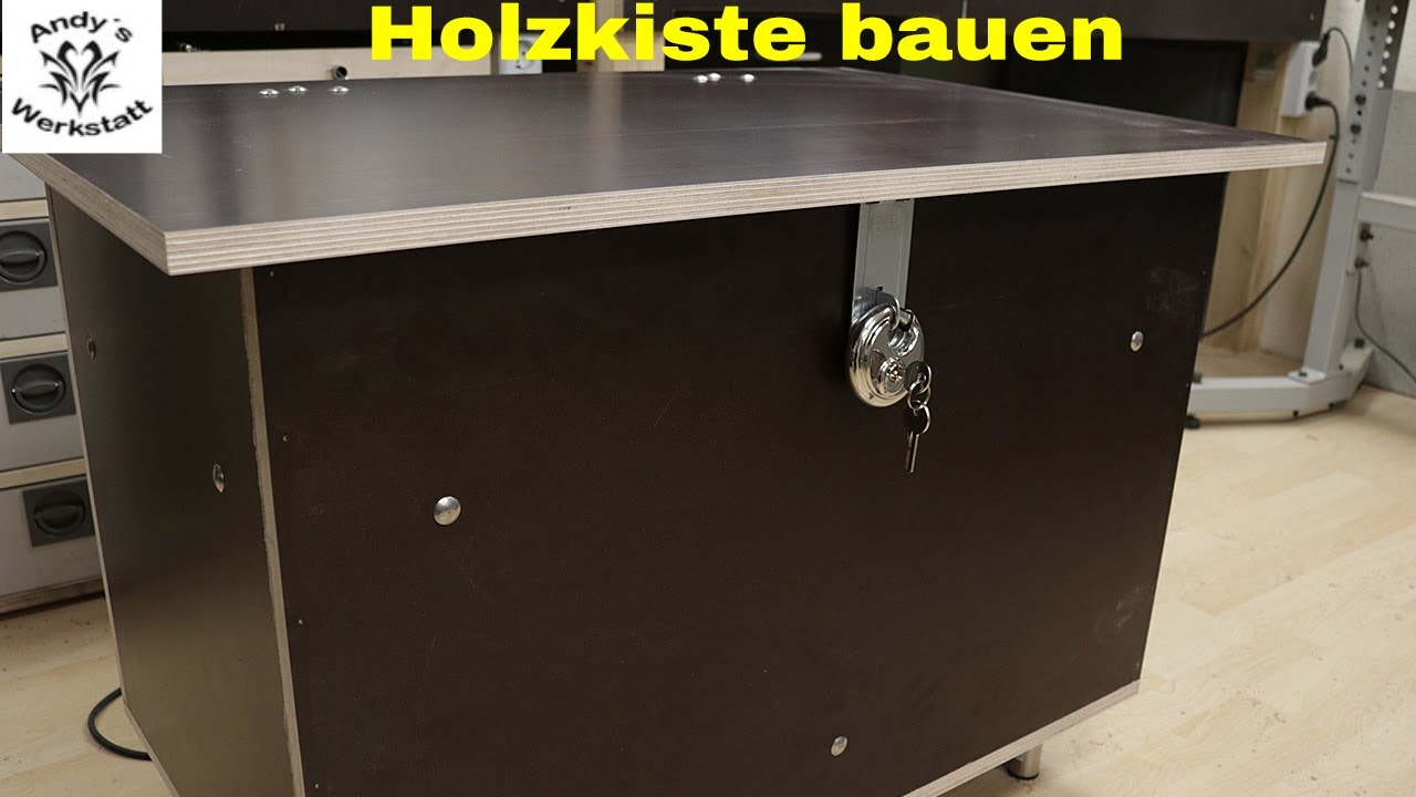 Turbo Wetterfeste Kiste/Zeitungskiste selber bauen - diy - YouTube QB57