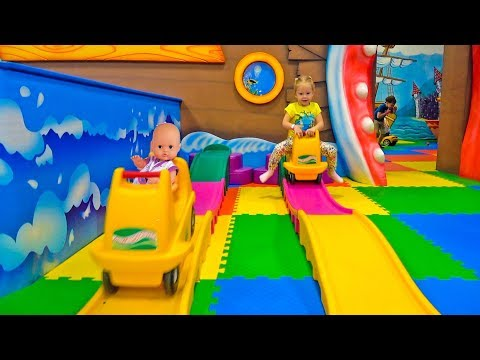 Thumbnail: Baby born doll and Funny Kid play on the indoor playground Play Area for kids Nursery Rhymes songs