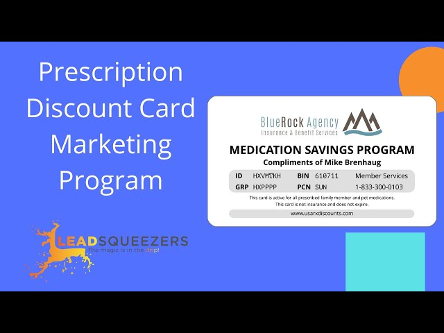 Lead Squeezers - Prescription discount card marketing for final expense