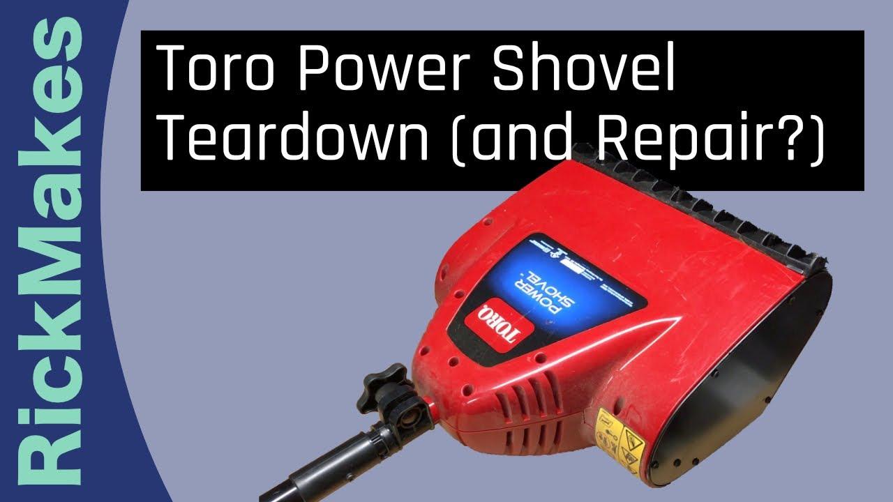 Toro Power Shovel Teardown And Repair Youtube