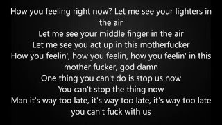 Kanye West Ft. Rihanna - Famous Lyric Video