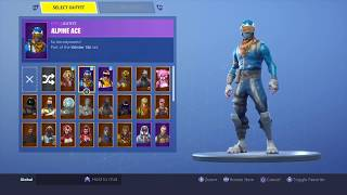 *SOLD* FORTNITE ACCOUNT *ALPINE ACE + CHRISTMAS ITEMS* | 65+ SKINS, 30+ AXES!