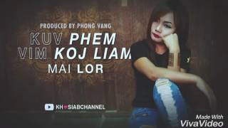 Kuv Phem Vim Koj Liam instrumental w/lyrics