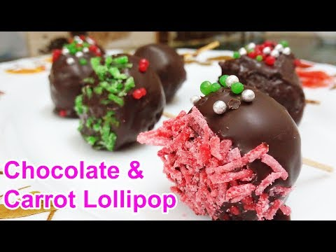 chocolate-&-carrot-lollipops-|-chocolate-lollipops-recipe-|-chocolate-lollipops-without-molds