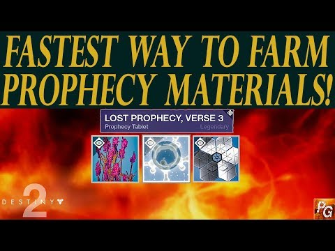 Destiny 2: The Best Way To Farm Materials For Prophecy Verse Tablets! (Weapon Forge Farming)