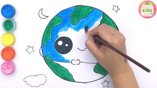 Drawing and Coloring the Green Earth, Protect Environment How To Draw for Kids | Candy Kids Art ☆