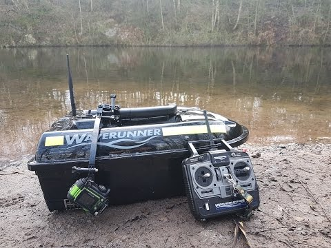 Underwater Bait Boat Camera Part 2. Old Gravel Quarry 301216. Test runs in deeper water.