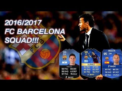 """FC BARCELONA SQUAD!  """"FC Barcelona Squad Numbers Confirmed For 2016/17 2016/2017"""""""