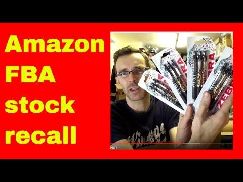 Amazon FBA stock recall