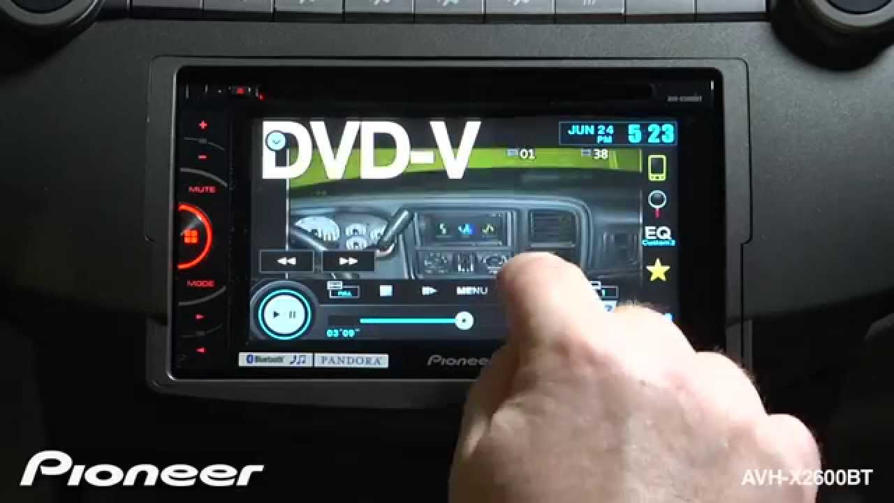 How To Avh X2600bt Playback A Dvd Video Youtube Pioneer Wiring Diagram