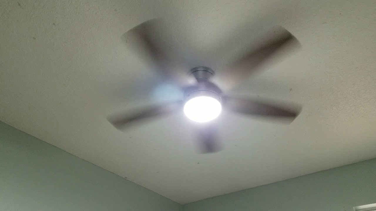 Ashby Park 52 In Integrated Led Brushed Nickel Ceiling Fan With Light Kit And Remote Control Youtube