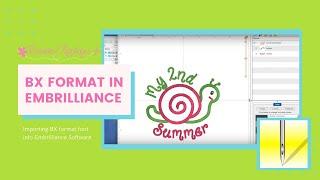 كيفية استيراد واستخدام BX تنسيق في Embrilliance البرامج