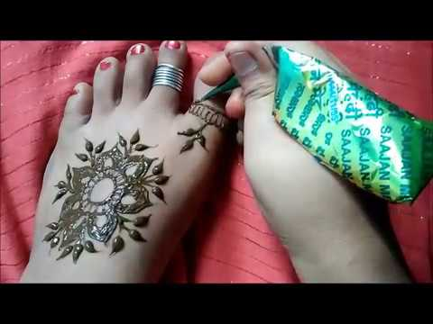 Beautiful Bridal Henna Mehndi Design For Feet Step By Step For