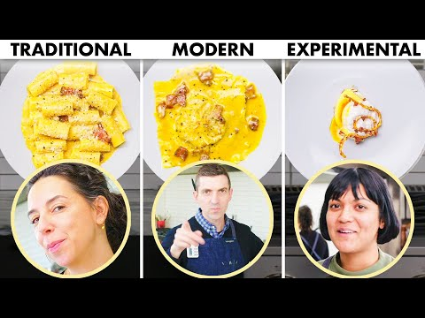 3 Chefs Cook Pasta Carbonara 3 Ways: Traditional, Modern, Experimental | Bon Appétit