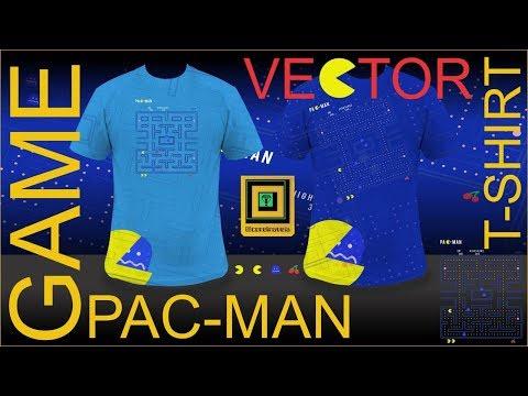Pac Man Game Vector T Shirt FINAL