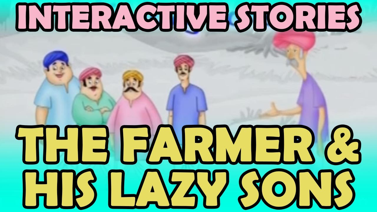 Interactive Stories | The Farmer And His Lazy Sons | Kids Stories |  KidRhymes