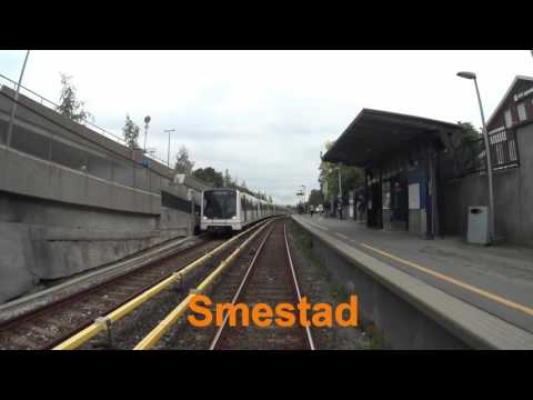 Cabview Line 2 west-east full ride / Oslo metro / Oslo T bane