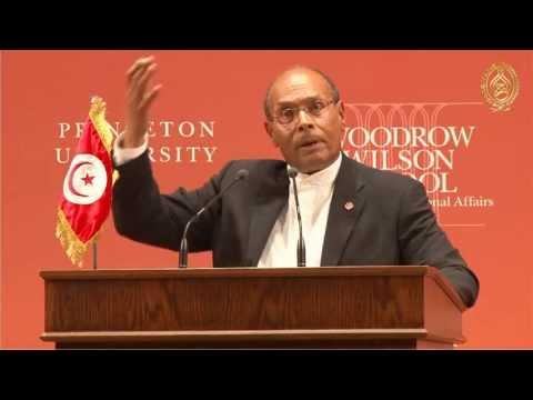 محاضرة رئيس الجمهورية السيد محمد المنصف المرزوقي في جامعة برنستون - Princeton University