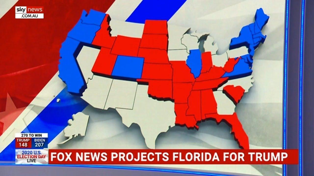 Trump secures crucial Florida, West Coast goes to Biden