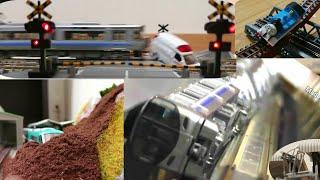 【鉄道模型 Nゲージ】土砂崩れ/踏切事故など ハプニング集 第3弾 (股尾前科も含む) [Model Train N-Gauge] Landslides / level crossing acci