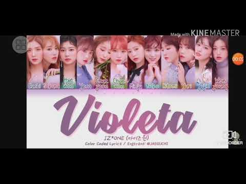Violeta Parody Lyrics ( Color Coded Video) Vietsub| Tím Bầm (Iz*One)