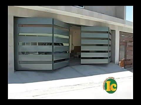 Porton automatico de bisagras 4 secciones youtube - Bisagras puertas metalicas ...