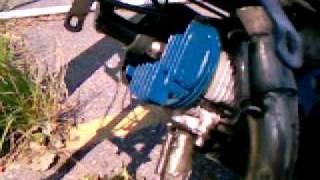 Cassage volant moteur pocket bike