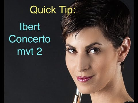 Ibert Flute Concerto - Quick Tip - Don't be Cheesy!