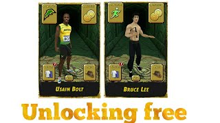 How To Unlock Usain Bolt and Bruce Lee for free In temple run 2