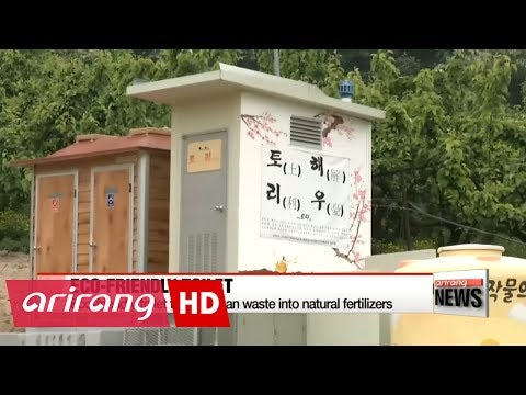 Eco-friendly toilets turn human waste into natural fertilizers