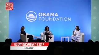 Invest in girls' education, says Michelle Obama
