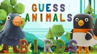 GUESS ANIMALS - BIRDS  | Learn ABC and animals easily | talking abc