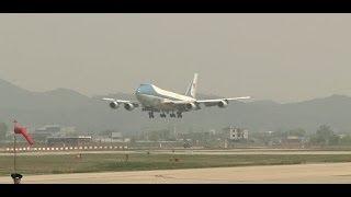 SOUTH KOREA!  President Barack Obama Arrives at Osan Air Base, ROK During Asia Tour!