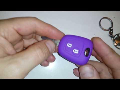 Силиконовый чехол на ключ Peugeot 206 307 207 408 Citroen c2 c3 c4