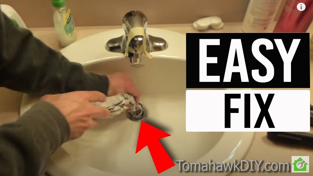 easy to fix a clogged sink no tools needed