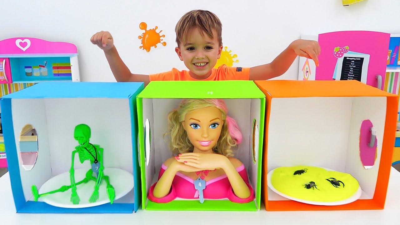 블라드와 니키가 장난감 상자를 가지고 놀다   재미있는 어린이 동영상