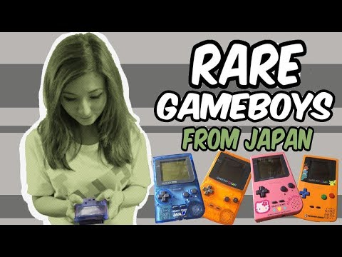 Rare Game Boys From Japan -- Some of the Oddest Special Edition Game Boy Consoles!