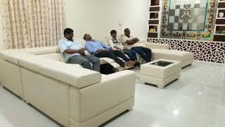 Sectional recliner sofa set