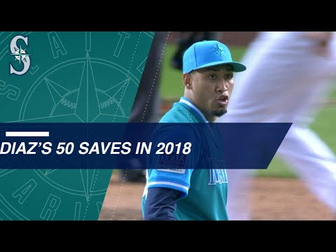 Edwin Diaz sets a Mariners' record with 50 saves!