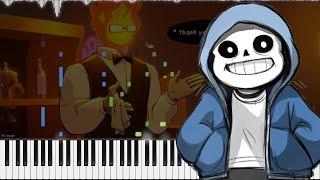 undertale. // sans.   LyricWulf Piano Tutorial on Synthesia. OST 15