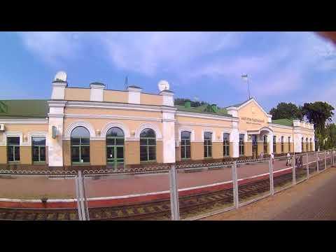 FHD. Mohyliv-Podilskyi. Window view. Diesel train DR1A-264 No.6334 Mohyliv-P. – Zhmerynka. 117
