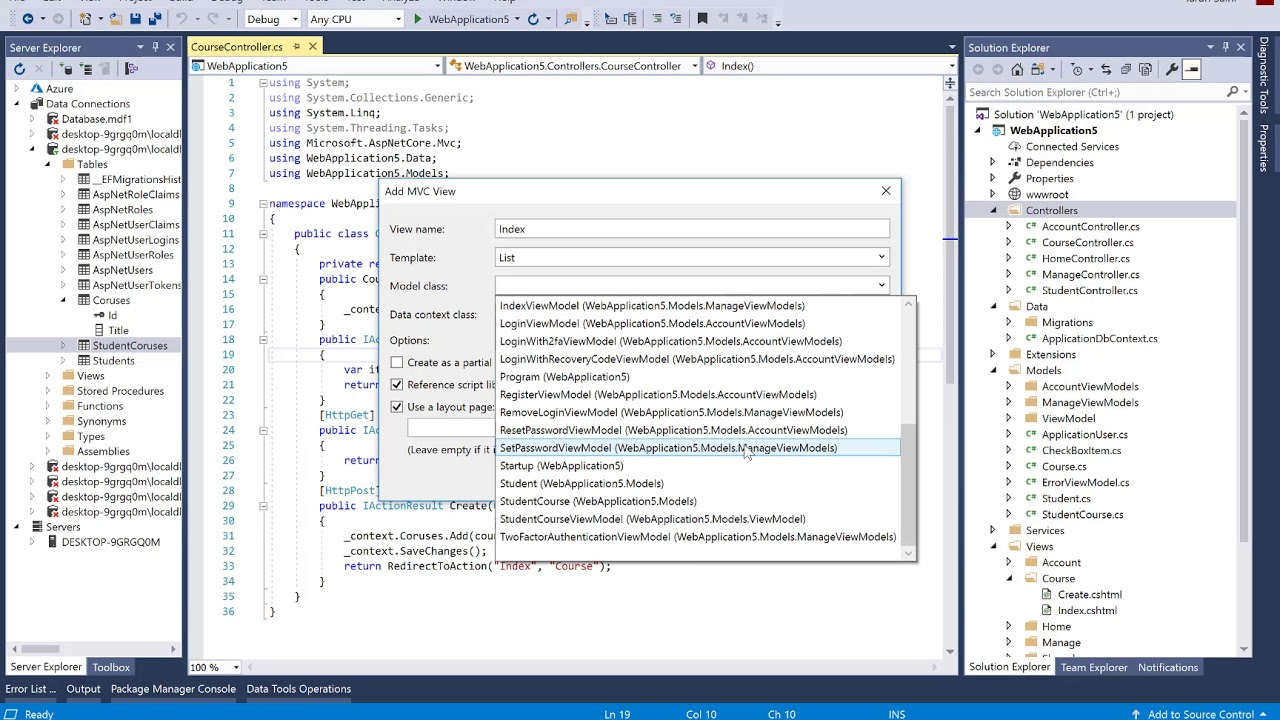 How to save checked item of CheckBox List into database in ASP NET CORE ||  part-1